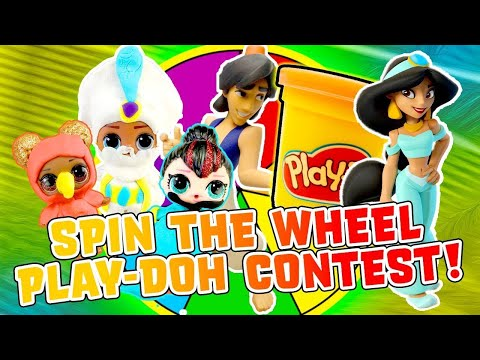 LOL Surprise Dolls Aladdin Spin the Wheel Play-Doh Game! With Prince Aladdin   LOL Dolls Families
