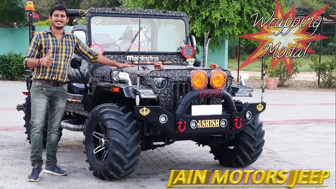MODIFIED JEEP WITH WRAPPING READY FOR BIHAR..JAIN MOTORS JEEP@8199061161