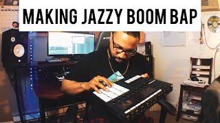 I LOVE mixing jazz and boom bap!! (making a boom bap hip hop beat)
