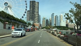 Driving Downtown - Chicago Navy Pier 4K - USA