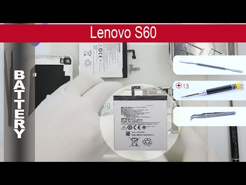 How to replace battery 🔋 Lenovo S60, Tutorial