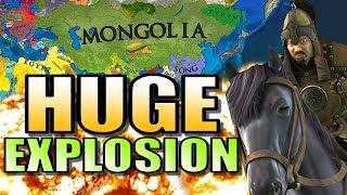 EU4 - MONGOLIA EXPLOSION! | Europa Universalis 4: Extended Timeline Mod Gameplay [AI Only EUIV]