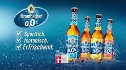 Krombacher o,0%. Der natürliche Durstlöscher mit o,0% Alkohol.
