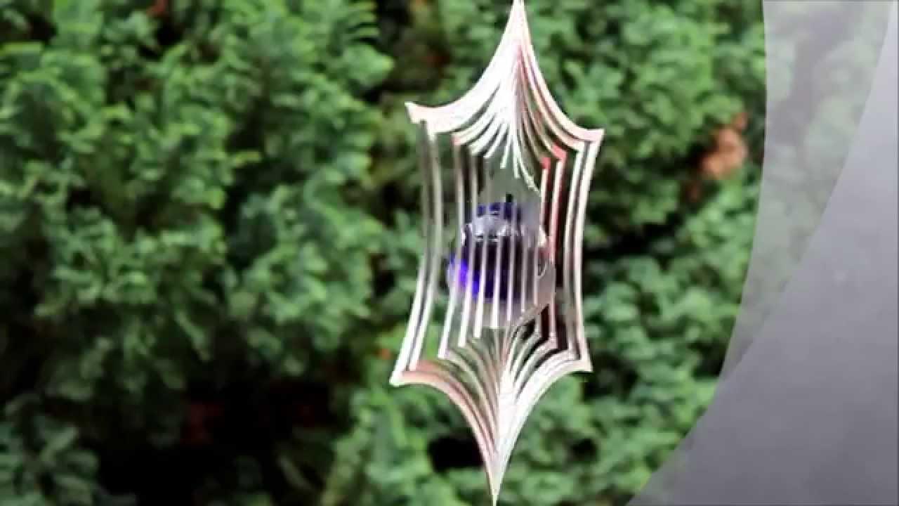 mobile edelstahl windspiel spinnennetz mit glaskugel youtube. Black Bedroom Furniture Sets. Home Design Ideas