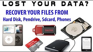 DATA RECOVERY from formatted/corrupt Hard Disk/Pendrive/SD card/Android Phone