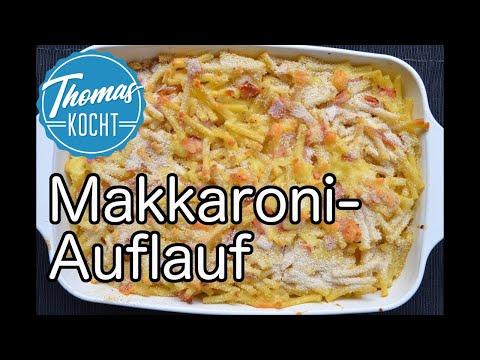 Nudelauflauf Mit Schinken Und Käse / Makkaroni-Auflauf / Thomas Kocht