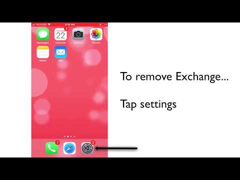 How To Add And Remove Exchange On An IPhone