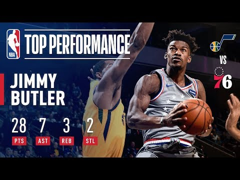 Jimmy Butler SHOWS OUT In 76ers Home Debut | November 16, 2018
