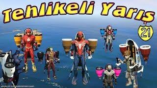 Örümcek Adam ve Süper Kahramanlar Uçuyor (İlginç Tehlikeli Yarış)