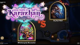 Hearthstone: Heroic Big Bad Wolf with Whizbang the Wonderful (Rise of Shadows)