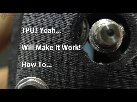 TPU Filament. How To Get Flexible Filaments To Work With Your 3D Printer & Bowden Extruder.