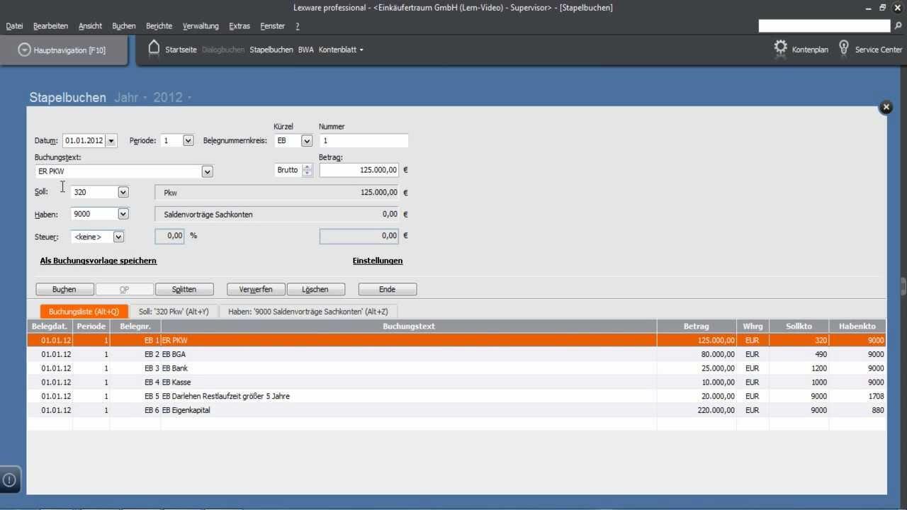 lexware büro easy demo