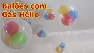 Balão Gás Hélio passo a passo