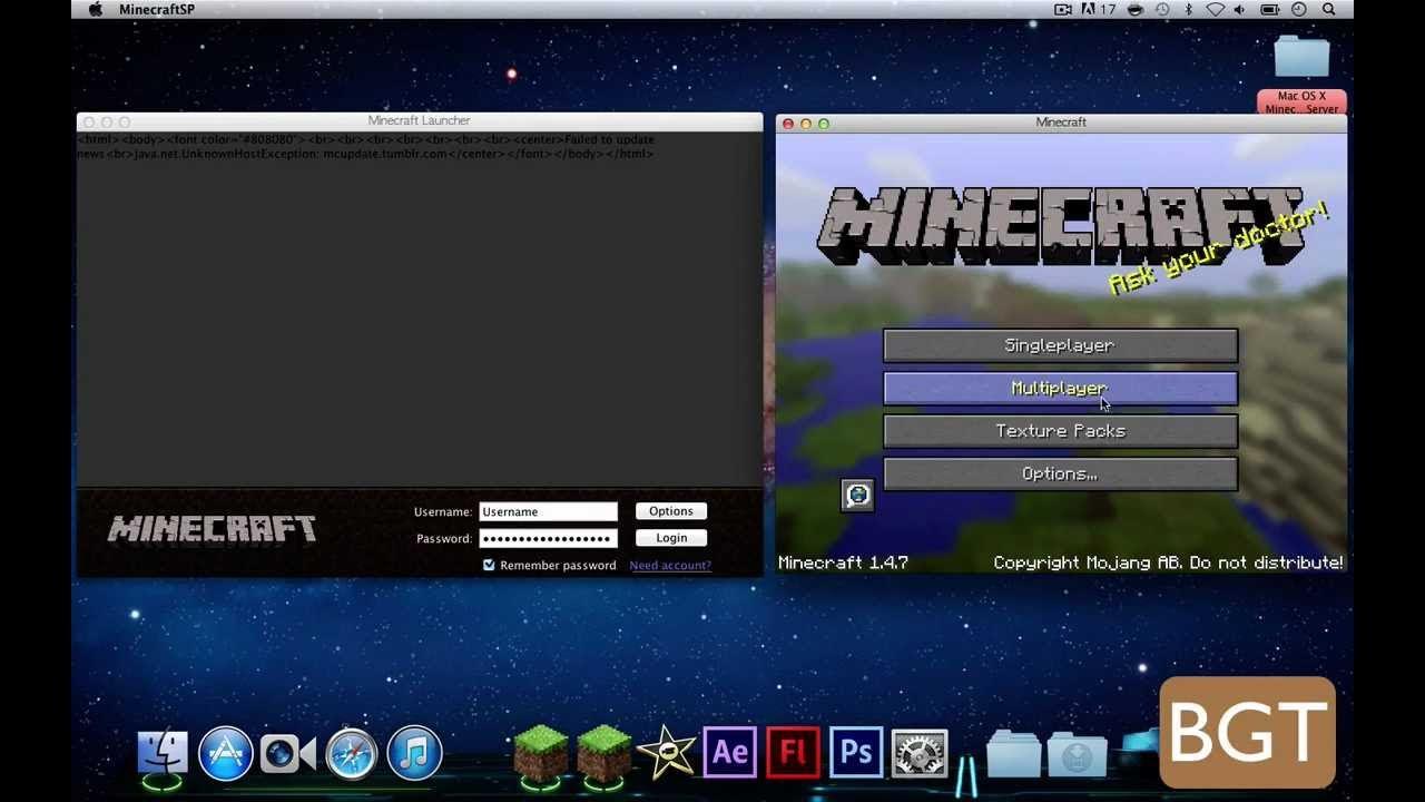 Скачать Minecraft на Мак