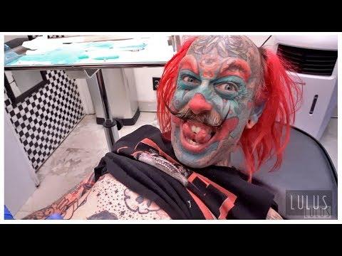 We Gave A Clown A Belly Button Piercing!!