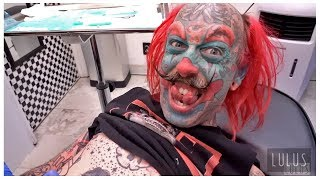 We Gave A Clown A Belly Button Piercing!!