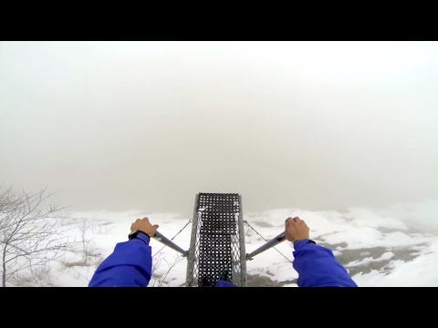 Jumping Off A Foggy Cliff