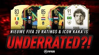Gambar cover NIEUWE FIFA 20 RATINGS & ICON KAKA IS UNDERRATED?!