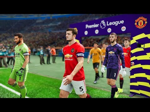 Wolves vs Man United (Maguire Scored a Goal) EPL Matchday 2 | PES 2019
