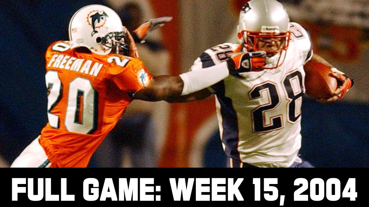 The Greatest MNF Upset! Patriots vs. Dolphins Week 15, 2004 Full Game