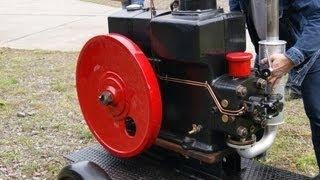 DEUTZ DIESEL START UP SOUND STANDMOTOR VERDAMPFER Bj 1927 MOTOR OTTO OLDTIMER Stationary ENGINE