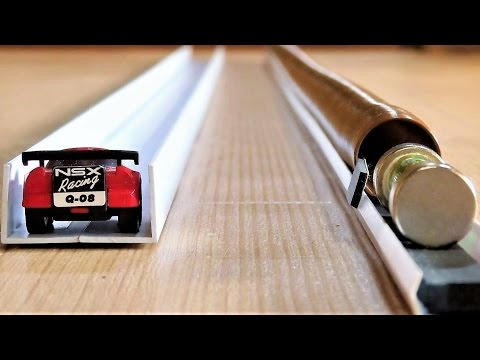 Very Fast Mechanical Mini Car vs Simplest Electromagnetic Train
