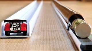 Very Fast Mechanical Mini Car vs Simplest Electromagnetic Train thumbnail