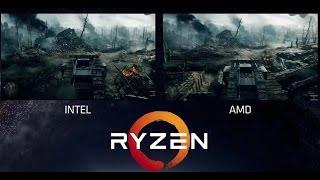 amd ryzen vs intel i7 6900k   battlefield 1   4k titan xp   live test