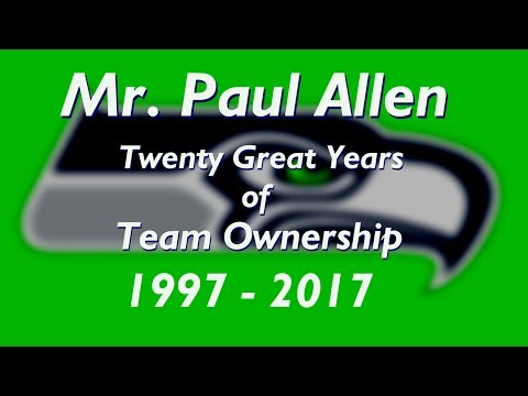 Seattle Seahawks 20 Year Anniversary Owners Tribute to Paul Allen