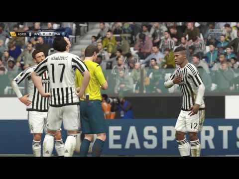 Juventus vs Paris Saint Germain  (1- 2)