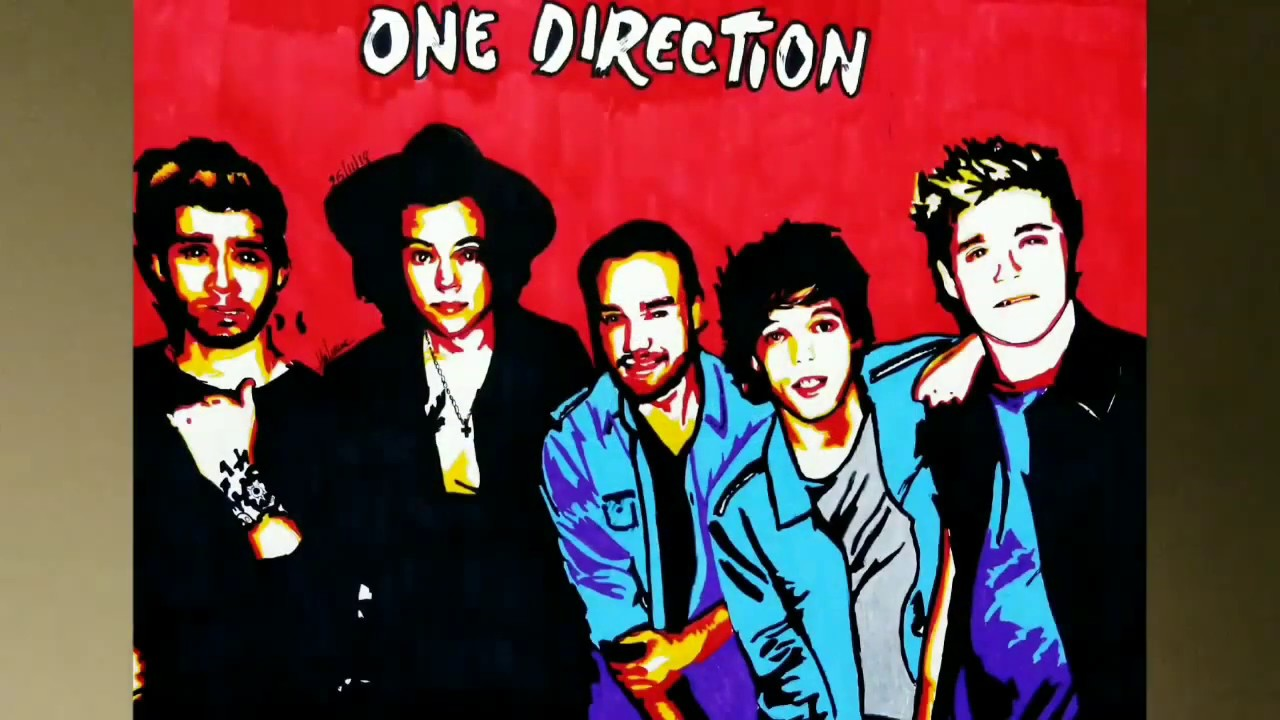 How To Draw One Direction || Pop Art Painting. - YouTube