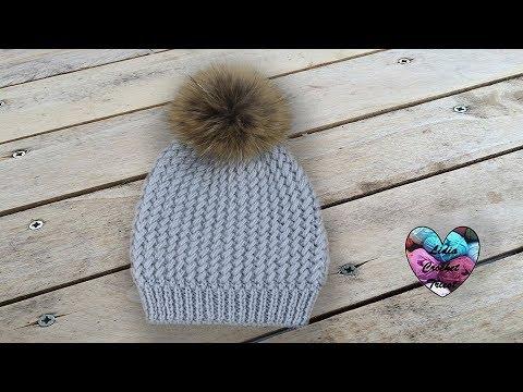 Tricot Bonnet Sibérie magnifique pas à pas - YouTube a0e94850726