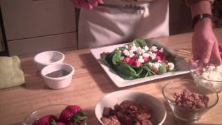 Gianni's Spring Spinach & Strawberry Salad With Sauteed Chicken