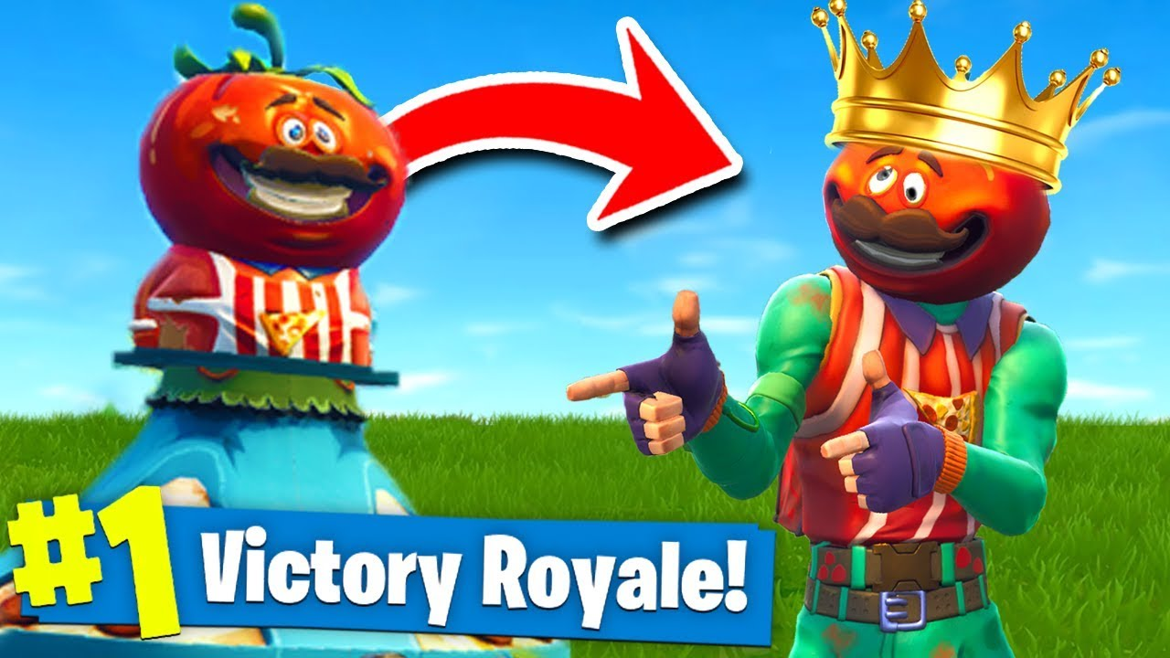 THE KING Of TOMATO TOWN CHALLENGE In Fortnite Battle