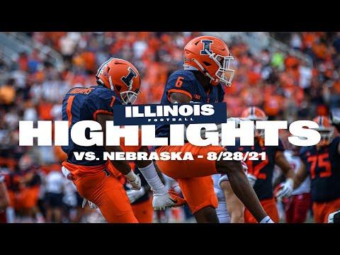 Illini Football | Illinois vs. Nebraska Highlights 8/28/21