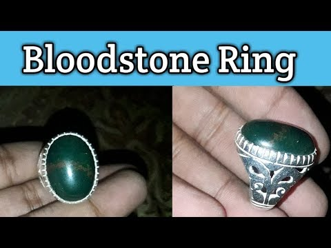 Bloodstone Ring Made By Me 🤩