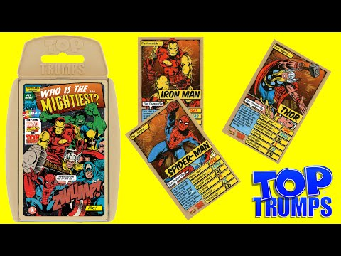 TOP TRUMPS Marvel Comics Who Is The Mightiest Superhero Card Game by Toy  TV