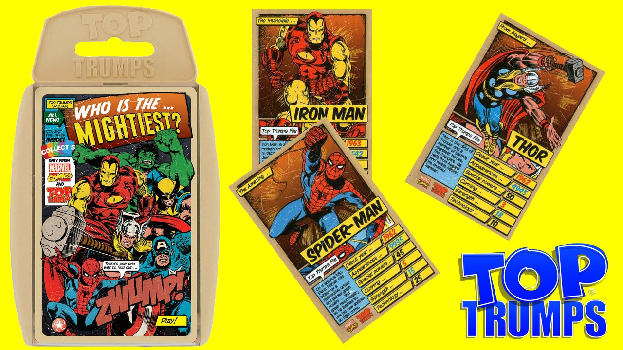 Top Trumps Rules >> Top Trumps Marvel Comics Who Is The Mightiest Superhero Card Game By Toy Review Tv