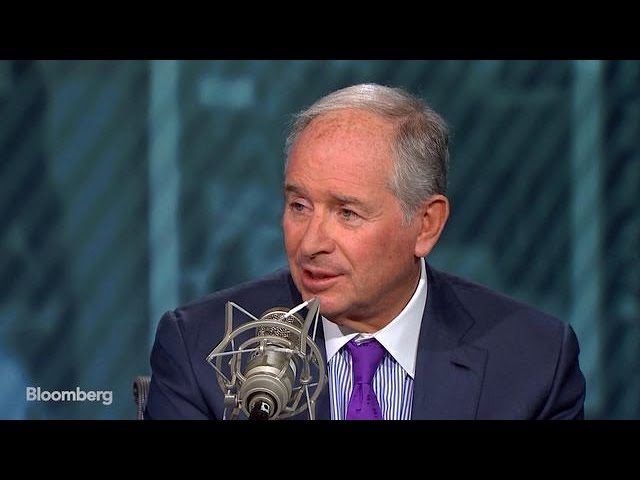 Schwarzman Says U.S.-China Trade Conflict Is Likely to Ease