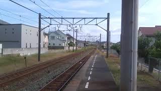 JR四国 粟井駅 今治行き7000系(更新インバータ車有)普通列車 到着