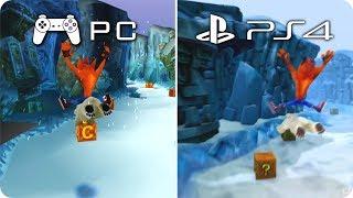 PC/PS4 Graphics Comparison - Crash Bandicoot 2 - PC Emulation PS1 vs PS4 N Sane Trilogy