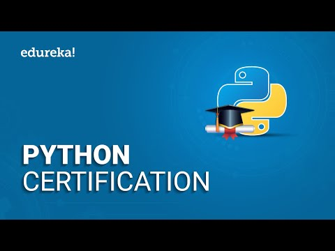 Python Certification | Data Science with Python Certification | Python Online Training | Edureka