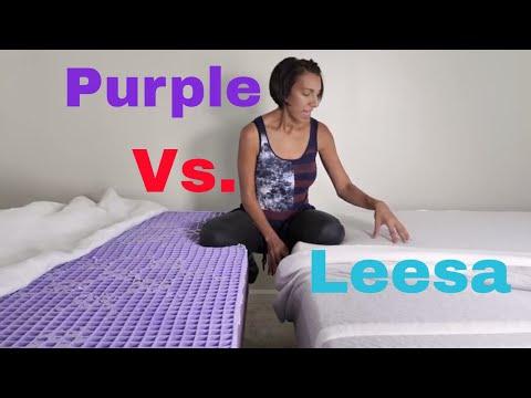 Purple Vs  Leesa Mattress Review and Comparison
