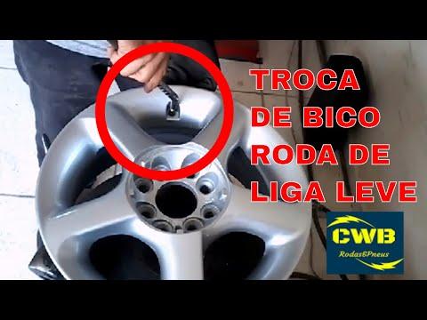 Troca de bico de pneu, roda de ferro, liga leve, qual e o correto?