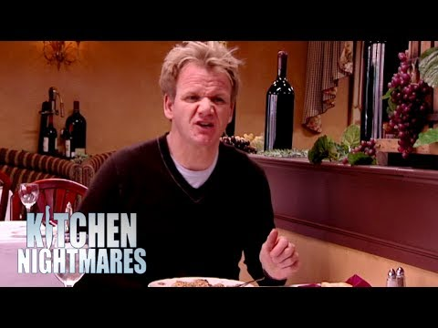 Chef Serves Ramsay Disgusting Mushy Food That's A Week Old! | Kitchen Nightmares