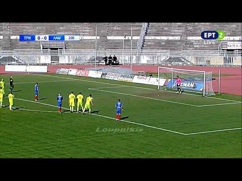 ΑΟ Τρίκαλα - Λαμία 1-0 Στιγμιότυπα Football League 22η αγ. {22/3/2017}