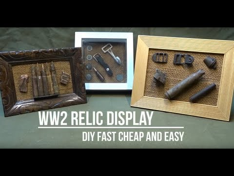 WW2 Battle of the Bulge relic display - Cheap & easy DIY