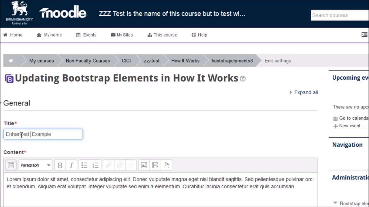 Moodle plugins directory: Bootstrap Elements