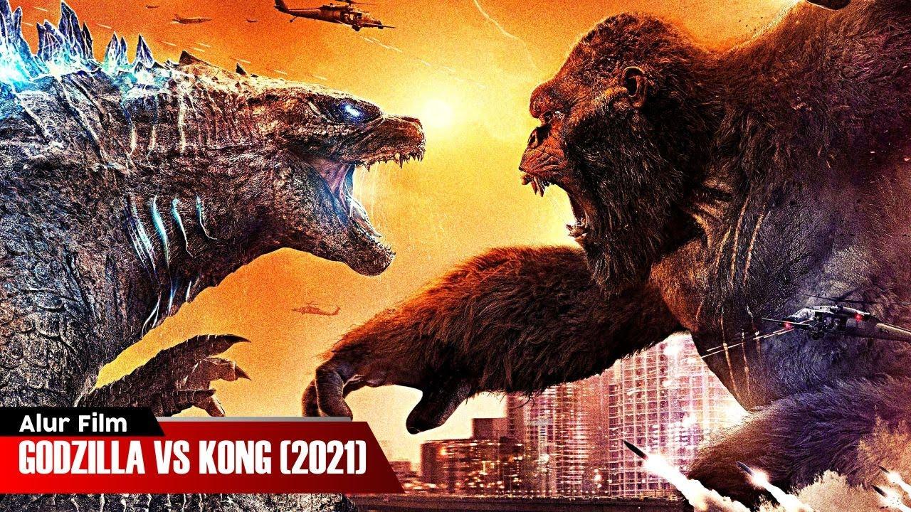 Download PERTARUNGAN DUA MONSTER TERKUAT DI BUMI | ALUR CERITA FILM GODZILLA VS KONG (2021)
