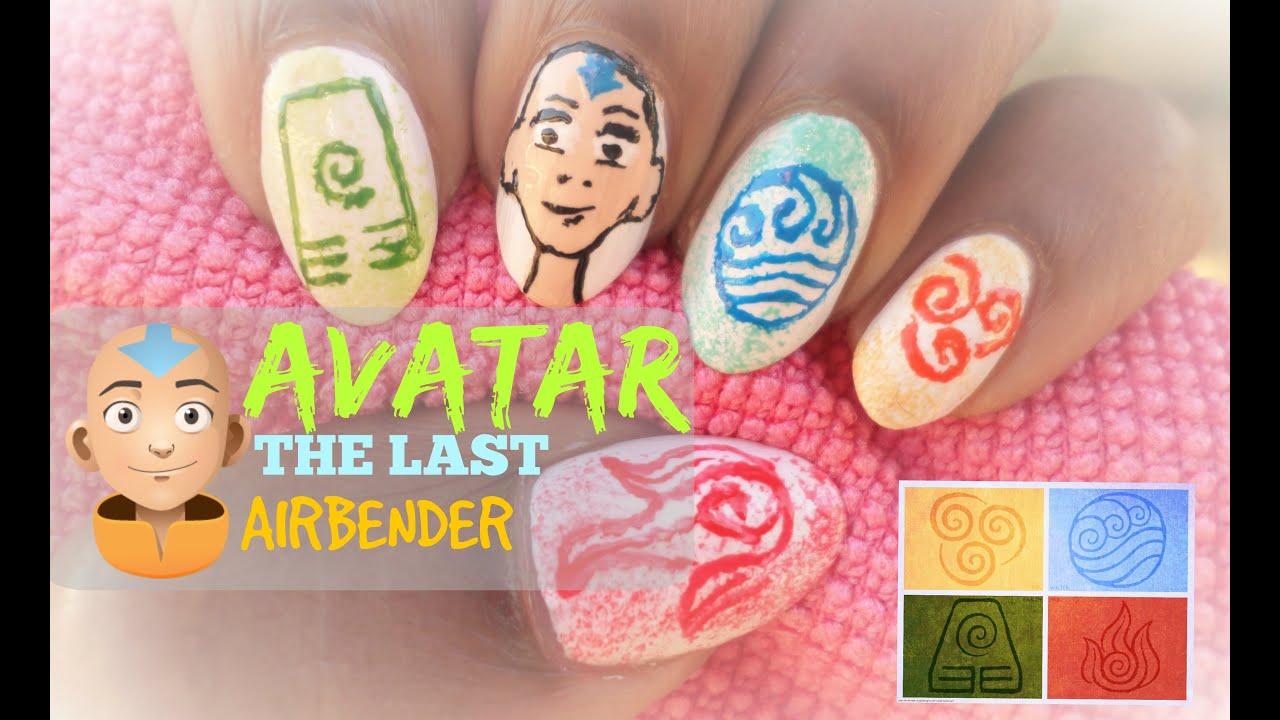 Avatar The Last Airbender Nail Art Youtube